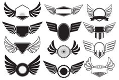 Emblems with wings Stock Images