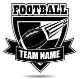 Emblemsymbol eller sköld för amerikansk fotboll Fotografering för Bildbyråer