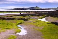 embleston för strandslottdunstanburgh Arkivfoto
