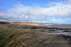 Embleton Bay in Northumberland through the Dunes Stock Images
