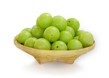 Emblica,amla green fruits Royalty Free Stock Photos
