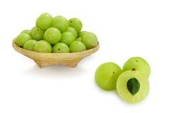 Emblica,amla green fruits Royalty Free Stock Photo
