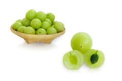 Emblica, amla zielone owoc Obrazy Royalty Free