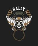 Emblème de crâne de cycliste Image libre de droits