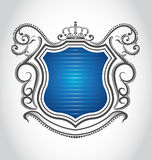 Emblème de cru avec la tête Images libres de droits