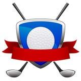 Emblème de golf Photos stock
