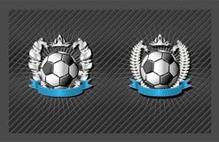 Emblème du football (le football) Images stock