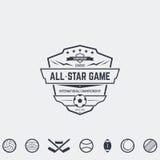 Emblèmes d'équipe de sport Photo stock