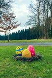 Emboîtement des oeufs de pâques Photo libre de droits