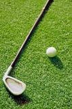Embocador e bola de golfe Fotografia de Stock Royalty Free