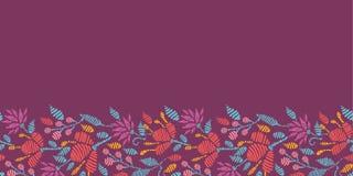 Emboridered Flowers Horizontal Seamless Pattern Stock Image