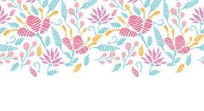 Emboridered garden horizontal seamless pattern Royalty Free Stock Photos