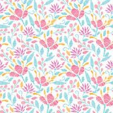 Emboridered garden seamless pattern background Royalty Free Stock Photography