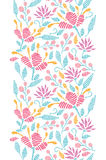 Emboridered garden vertical seamless pattern vector illustration