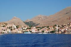 Emborio, Halki-eiland Stock Foto's