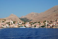 Emborio, Halki-Insel Stockfotos