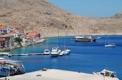 Emborio harbour, Halki Stock Image