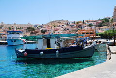 Emborio harbour, Halki island Stock Photography