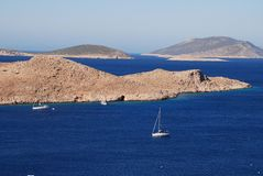 Emborio harbour, Halki Stock Photography