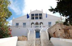 Emborio town hall, Halki island Royalty Free Stock Image