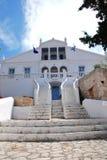 Emborio town hall, Halki island Royalty Free Stock Images