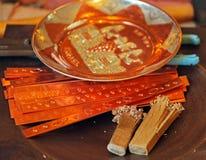 Embossed Bronze Souvenirs Stock Photo