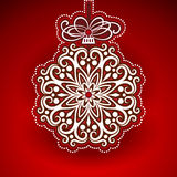 Embossed Christmas Bauble Royalty Free Stock Images