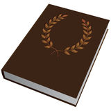 Embossed on the cover. Book with a slot in the cover to the first page. Vector illustration Royalty Free Stock Photography