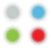 Embossed halftone set. Vector color embossed halftone set vector illustration