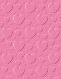 Embossed Hearts Background Stock Image