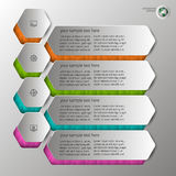 Embossed infographics in 4 steps Stock Photography