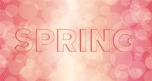 Embossed inscription spring Royalty Free Stock Images