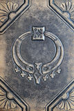 Embossed leather. Antique embossed leather from 1800s photo book cover Royalty Free Stock Images