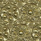 Embossed Metal. Seamless Texture Tile from Photographic Original royalty free stock images