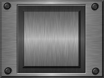 Embossed metal plate. Shiny brushed embossed metal plate Stock Images