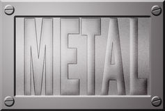 Embossed metal plate Royalty Free Stock Photos