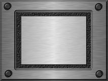 Embossed metal plate b. Shiny brushed embossed metal plate Royalty Free Stock Images