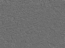 Embossed moulded carved urban view. Embossed moulded carved urban city view with gray background Royalty Free Stock Image