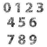Embossed numbers for Education Royalty Free Stock Photos