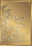 Embossed palms Stock Photo