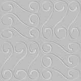Embossed pattern on seamless gray vector background Royalty Free Stock Images