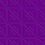 Embossed purple flourish simple pattern Stock Images