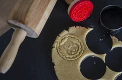 Embossed stamp cookies Stock Photography