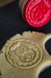 Embossed stamp cookies Royalty Free Stock Photo