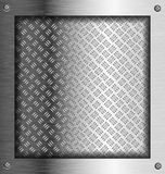 Embossed steel metal frame Royalty Free Stock Photo