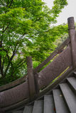 Embossed stone bridge and verdant tree,China Stock Photo