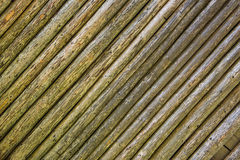 Embossed texture of wooden rounded planks Stock Photography