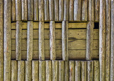 Embossed texture of wooden window rounded planks Stock Photos