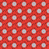 Embossed wallpaper. Red and gray trim with embossed royalty free illustration