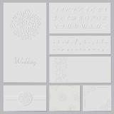 Embossed wedding set Royalty Free Stock Photo